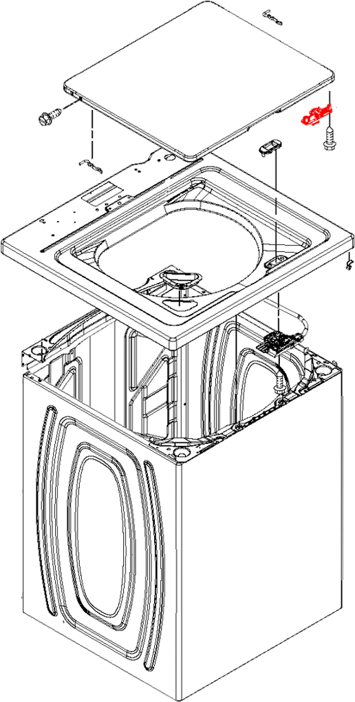 w10240513 whirlpool lid lock strike replacement